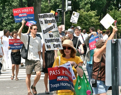 Marching for single-payer